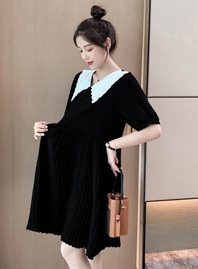 辣妈孕妇夏装连衣裙夏季雪纺裙子宽松小个子时尚2021新款夏天外穿