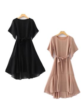 高端主系列连衣裙长款宽松大码雪纺裙气质裙子潮2021夏季新品女装