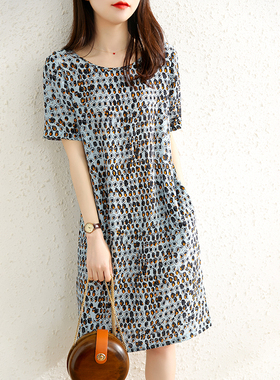 洋气减龄大码雪纺连衣裙女2021夏装女装新款显瘦小个子高端宽松裙