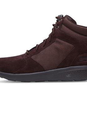 Skechers斯凯奇男鞋轻质高帮鞋英伦马丁靴板鞋休闲鞋运动鞋秋冬季