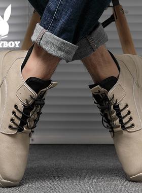 花花公子工装鞋男鞋韩版高帮鞋冬季2020马丁靴男士休闲鞋潮鞋百搭