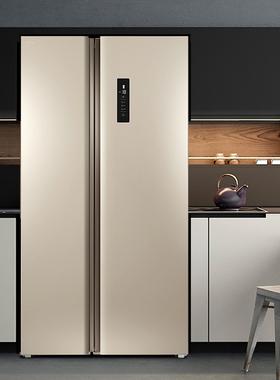 TCL对开门冰箱520升家用双开门风冷无霜变频冰箱节能双门式大容量
