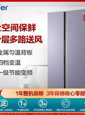 Haier/海尔BCD-600WGHSS17NZU1对开门风冷全空间保鲜变频智能冰箱
