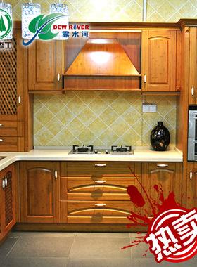 郑州露水河整体厨房橱柜定做中式复古竹子厨柜全屋定制石英石台面