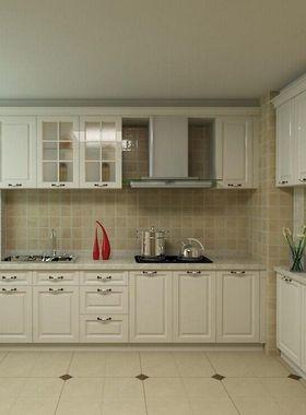 苏州整体厨房橱柜定制实木厨柜定做中式简约地中海橱柜定做可安装