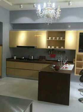 南宁整体实木橱柜石英石 现代中式厨柜定制 广西开放式厨房