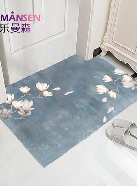 可擦免洗门口地垫pvc地毯门垫进门入户门家用垫子中式厨房防滑垫