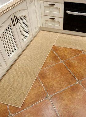 厨房地垫防滑防油家用耐脏中式长条吸水地毯可擦免洗进门门口垫子