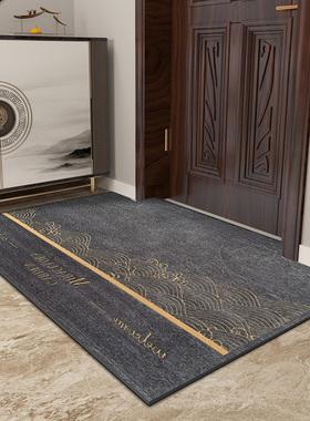 新中式入户门地垫家用进门口脚垫厨房客厅地毯卧室防滑垫子可定制