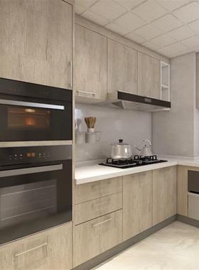 深圳304不锈钢中式厨房定做亚克力烤漆橱柜定制石英石台面 1990米