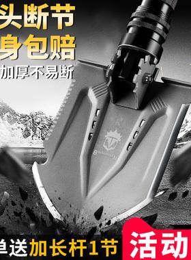 德国军版原品车载多功能工兵铲子中国军工兵工锰钢户外铁锹折叠厂