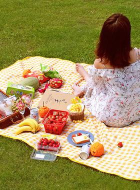 新款户外野餐垫便携式手提防潮牛津布野餐垫野营野炊地席