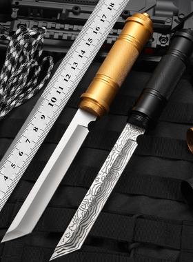荒夫户外防身刀棍中刀防爆瑞士军刀车载短刀合法一体刀具军工刀