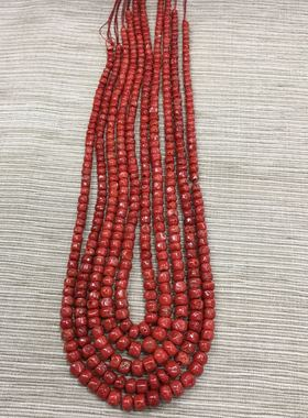 藏式宝石珠宝鼓珠塔链桶珠手串手链108佛珠项链吊坠藏族散珠饰品