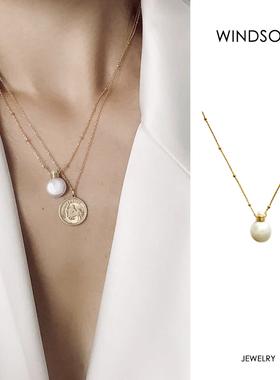 Dare买手店 LHwindsor温莎珠宝香水瓶珍珠项链复古百搭简单款叠戴