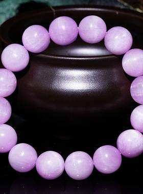弘利珠宝天然紫锂辉手链水晶女神款薰衣草紫色情侣手串猫眼饰品
