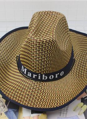 钓鱼骑车男士牛仔帽度假夏沙滩大沿帽子女太阳防晒帽子男遮阳草帽