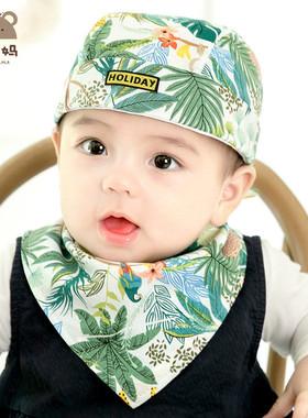 婴儿帽帽子春秋宝宝纯棉新生头巾海盗帽地主帽可爱婴幼儿胎帽秋款
