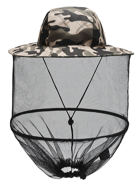 户外防蚊帽子男士遮脸防晒钓鱼帽夜钓透气网纱面罩养蜂防虫防蜂帽