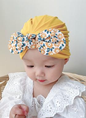 婴儿帽子春秋薄款囟门3个月秋冬新生儿胎帽宝宝印度帽秋款护卤门