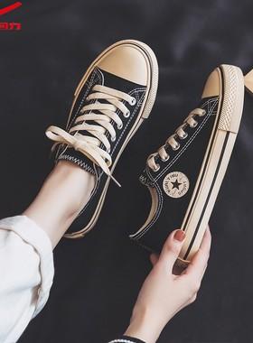 回力帆布鞋女2021夏季低帮女鞋子女潮鞋韩版百搭布鞋学生平底板鞋