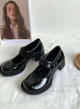 晓晓夏季新款浅口玛丽珍复古英伦风女鞋19