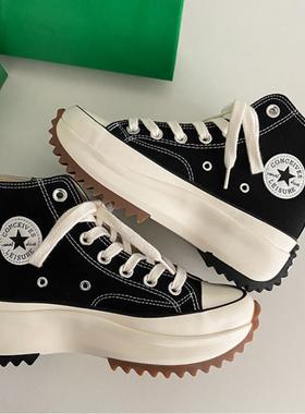 肖战同款帆布鞋女鞋夏季厚底增高STAR匡威1970s高帮鞋女松糕板鞋