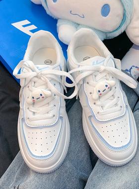 哆唻C梦 回力玉桂狗小白鞋女夏2021新款女鞋春秋薄款休闲运动板鞋
