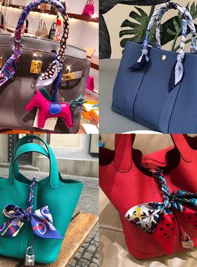 真丝绑包包手柄丝巾缠手提包绑带桑蚕丝系包上窄细小长条装饰丝带