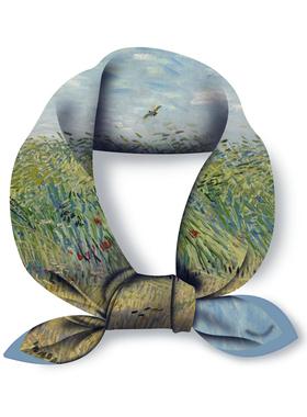 梵高系列油画春秋丝巾小方巾女百搭装饰护颈文艺领巾时尚头巾发带
