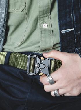马登工装 眼镜蛇战术自动扣腰带机能帆布特种兵户外执政官裤带男