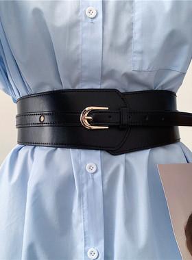 欧美腰带女宽复古百搭时尚配西装连衣裙子大衣腰封装饰收腰外穿