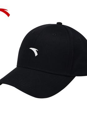 安踏运动帽子男士嘻哈帽秋官网旗舰棒球帽鸭舌帽女防晒户外遮阳帽