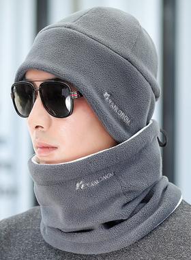 帽子男冬季户外防寒骑车帽韩版保暖毛线帽加厚护耳棉帽防风雷锋帽