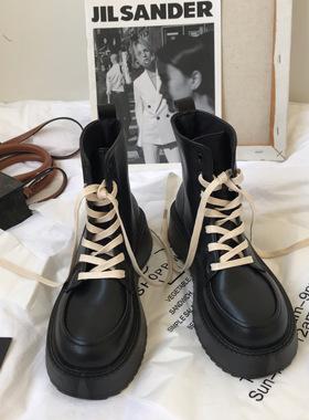 小sun家马丁靴女冬季加绒2021新款厚底机车靴百搭原宿英伦短靴子