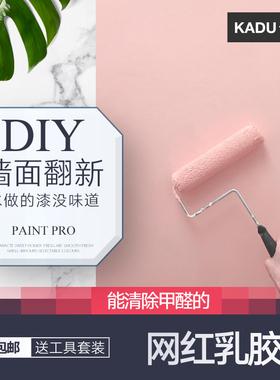 乳胶漆内墙漆室内涂料白色彩色墙面翻新漆家用自刷墙环保无味油漆
