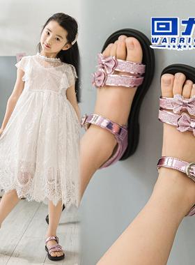回力女童凉鞋2021夏季新款时尚软底儿童女孩中大童小公主网红童鞋