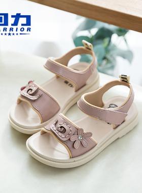 回力女童凉鞋真皮小女孩2021夏季新款时尚软底儿童中大童小童鞋子