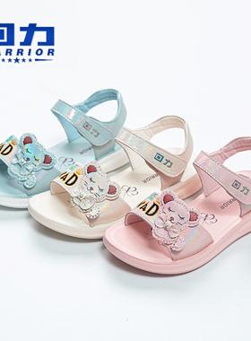 回力童鞋女童凉鞋时尚卡通女孩夏季2021新款中大童软底宝宝公主鞋