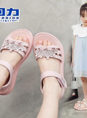 回力童鞋女童凉鞋2021夏季新款时尚韩版软底儿童中大童小童公主鞋