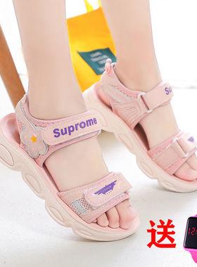 回力女童凉鞋2021夏季新款女孩鞋中大童网红公主鞋软底洋气儿童鞋