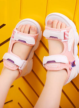 回力儿童凉鞋女童鞋洋气2021夏季男童沙滩鞋软底中大童拖鞋韩版潮