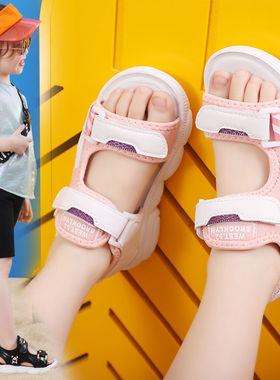回力儿童女童凉鞋2021夏季新款小女孩时尚中大童公主沙滩软底童鞋
