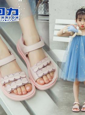 回力童鞋女童凉鞋2021夏季新款韩版时尚网红小公主儿童软底沙滩鞋