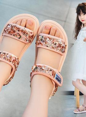 回力女童凉鞋2021夏季新款小公主时尚小女孩中大童鞋子运动沙滩鞋