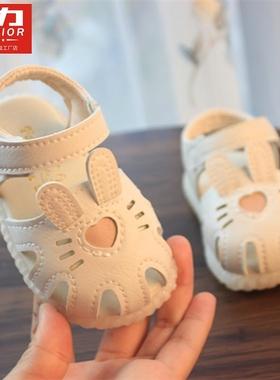 回力爱心夏季女宝宝凉鞋女童婴儿软底学步鞋子公主鞋3小童鞋