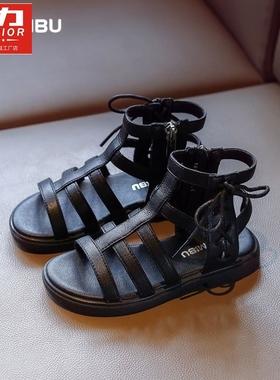 回力女童罗马凉鞋夏季新款中大童时尚儿童软底小女孩宝宝公主童鞋