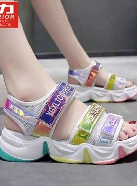 回力女童凉鞋年夏季新款中大童儿童时尚童鞋小公主网红女孩沙滩鞋