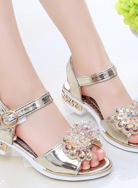 回力女童凉鞋2021夏季新款时尚中大童公主鞋小女孩百搭软底儿童鞋