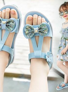 回力儿童凉鞋女2021夏季新款时尚中大童沙滩鞋软底韩版小女孩童鞋